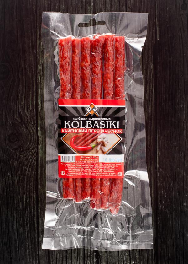 Колбаски сырокопченные к пиву KOLBASIKI